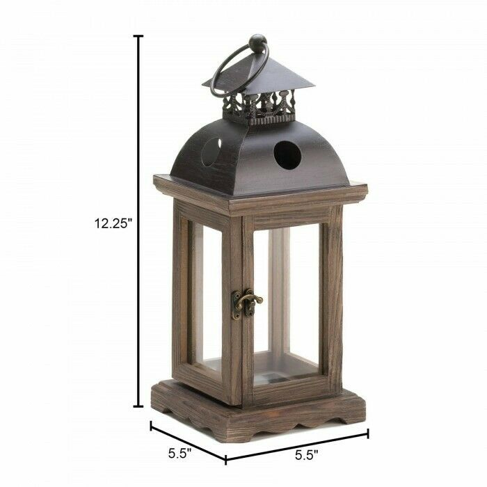 Rustic wood lantern candle holder wedding centerpiece ebay