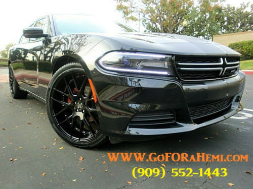 Dodge Charger 2006 To 2016 Matte Black 22 Inch Wheels