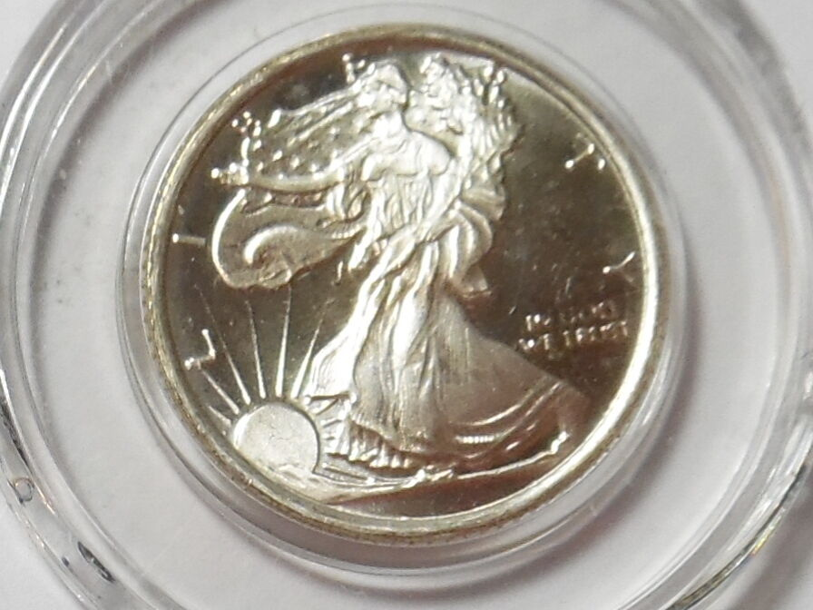 Walking Liberty Kennedy Half Dollar Tribute Piece 1 10 Oz