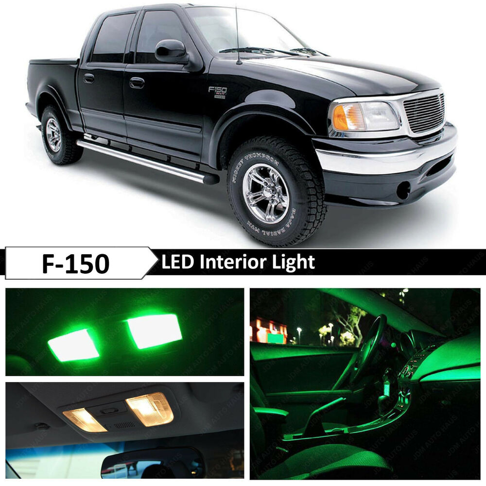 16x Green Interior Led Lights Package Kit For 1997 2003 Ford F150 F 150 Ebay