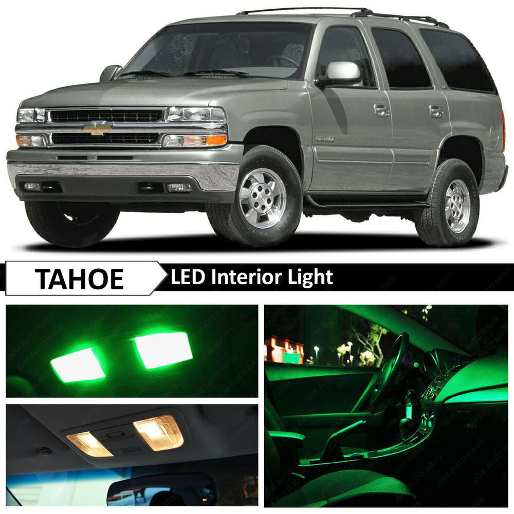 20x Green LED Lights Interior Package Kit For 2000-2006