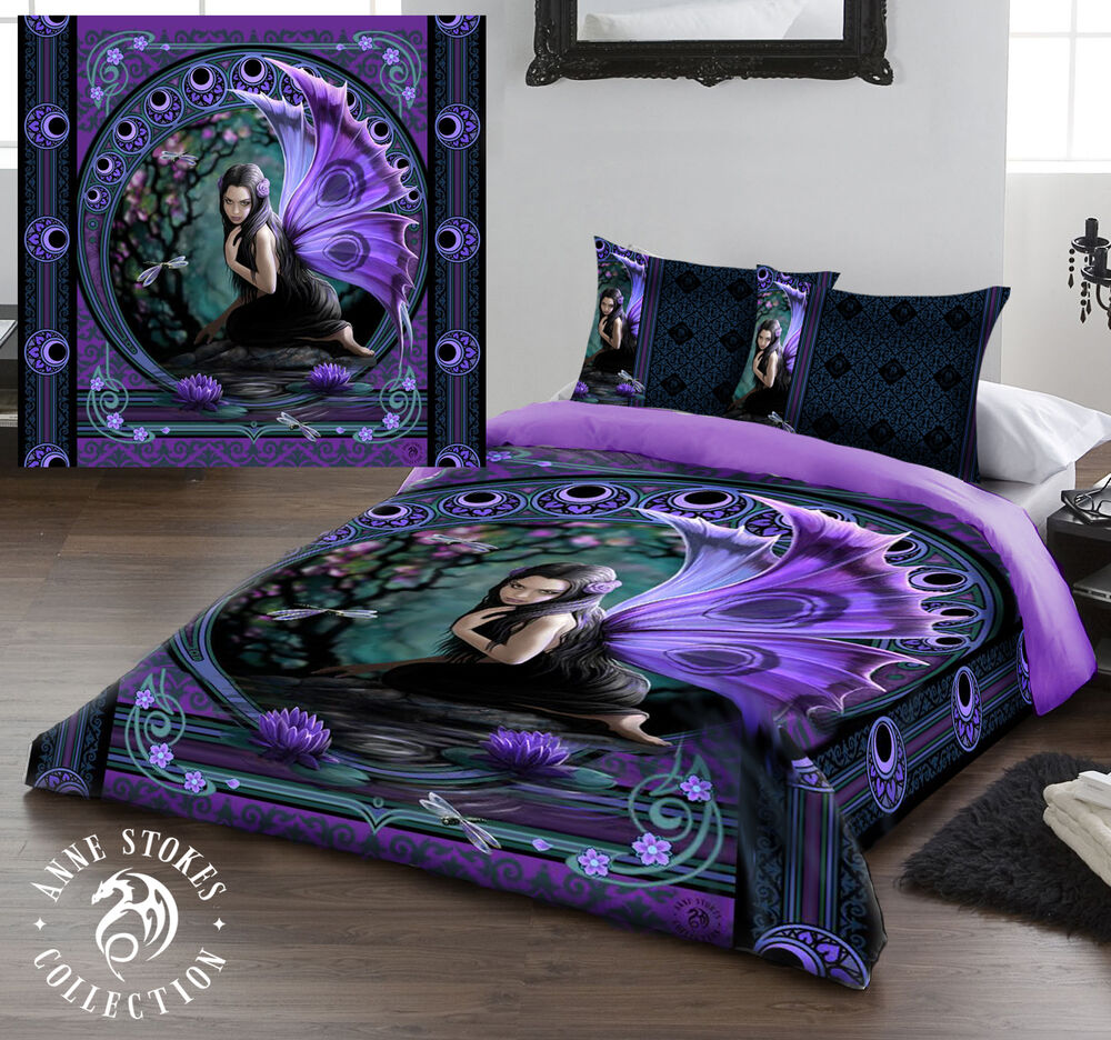 Naiad duvet cover set for uk king us queensize bed for Tattoo bedding queen