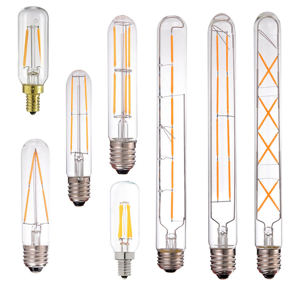 led filament light bulb 2w 4w 6w 8w edison tubular style retro lamp dimmable ebay. Black Bedroom Furniture Sets. Home Design Ideas