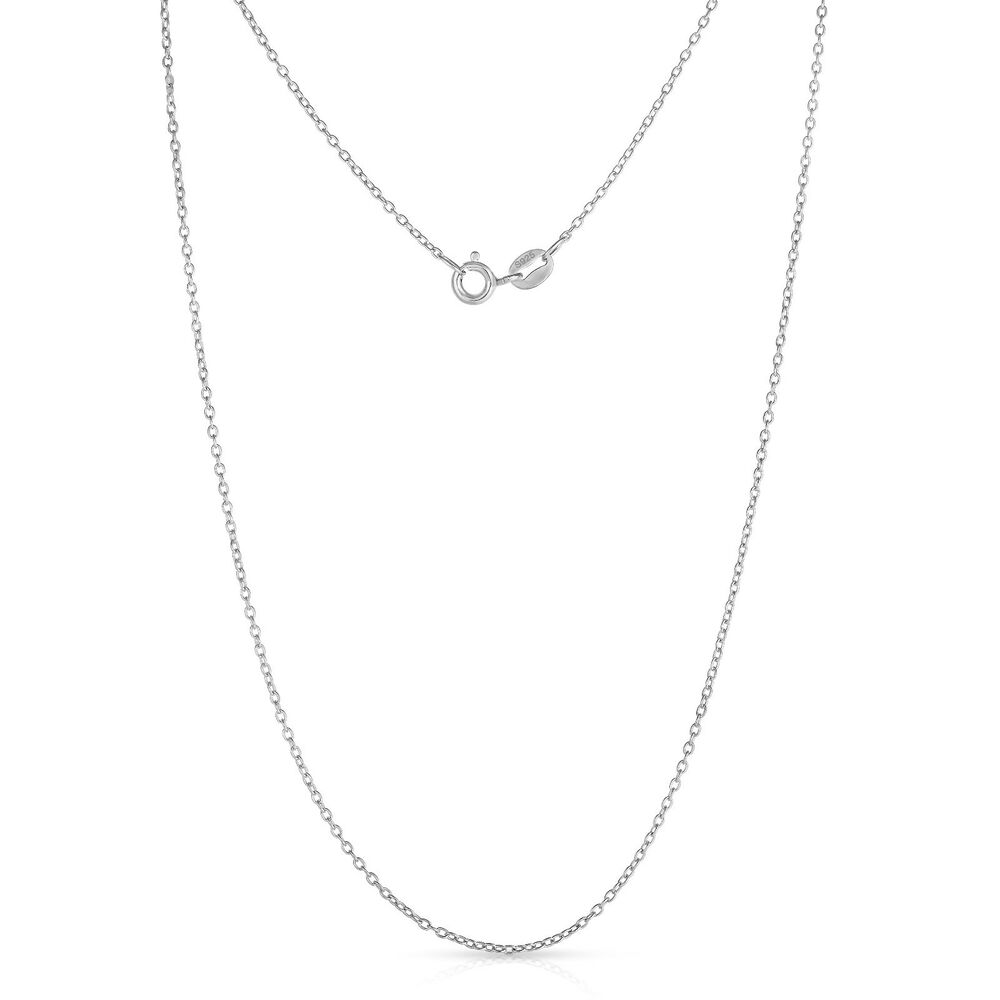 Sterling Silver Fine Cable Chain Necklace Ebay