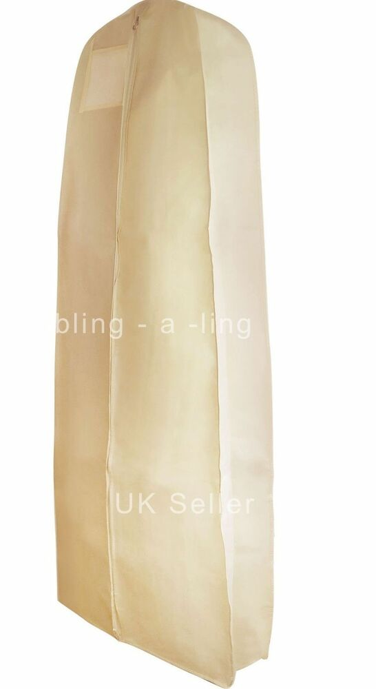 Ivory Breathable Dress Cover Wedding Prom Ball Gown Storage Bag 72 High Quality