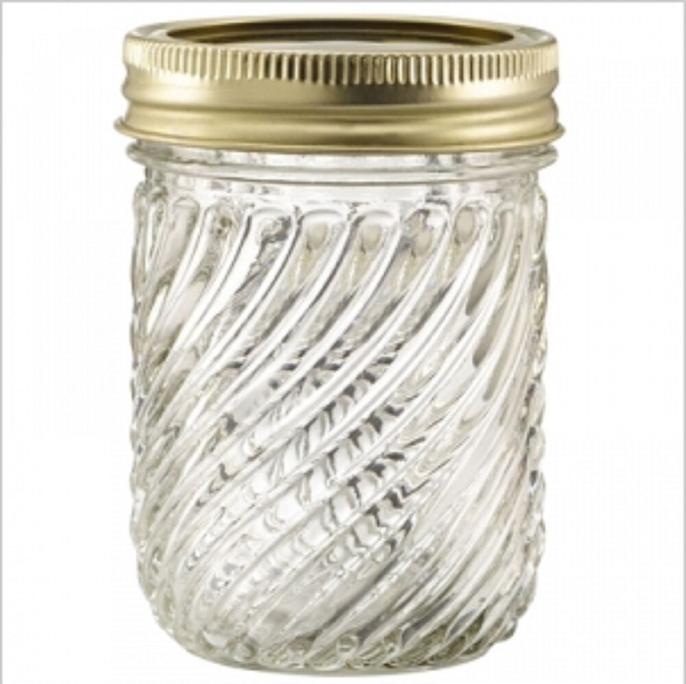 EMPIRE 8 OZ. GLASS VINTAGE QUILTED CRYSTAL CANNING JELLY