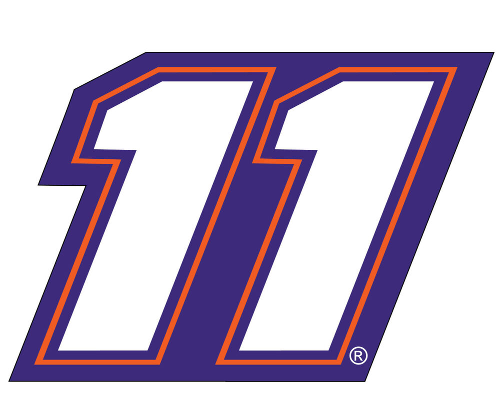 nascar  11 denny hamlin jumbo number decal