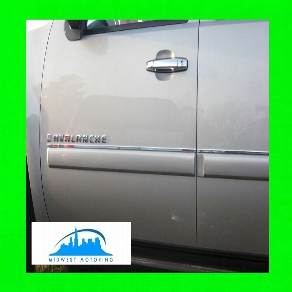 2007-2013 CHEVY CHEVROLET AVALANCHE CHROME SIDE DOOR TRIM