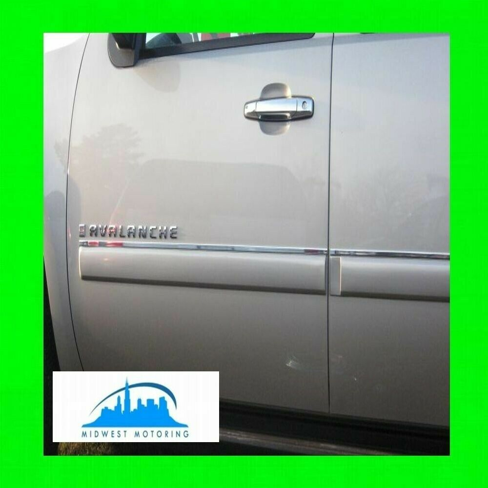 2007-2013 CHEVY CHEVROLET AVALANCHE CHROME SIDE DOOR TRIM ...