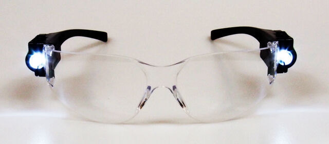 3253e0e7a658 Details about Lab Medical Nurse Doctor EMT Eyewear Clear Safety Eye  Protective Goggles LED!!