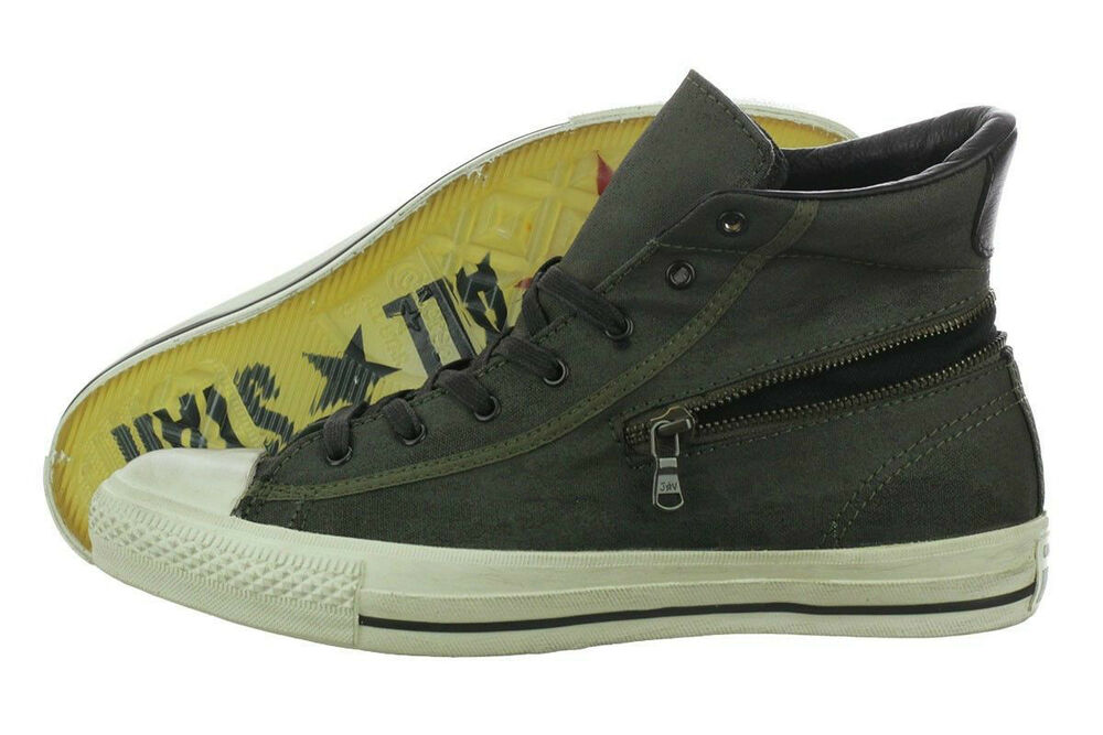 55cc0a2c7bf Details about Converse X by John Varvatos Chuck Taylor All Star Back Zip Hi  Green 142980C 8.5
