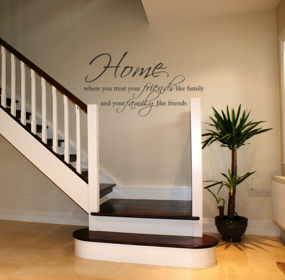 Home wall art sticker lounge hallway living room dining for Family room wall art