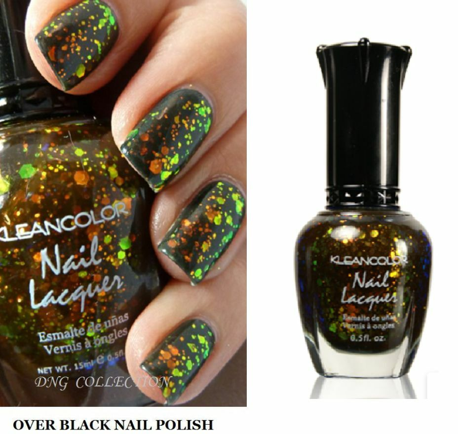 Black Nail Polish Ebay: NEW Kleancolor CHUNKY HOLO BLACK 3D Holographic Glitter