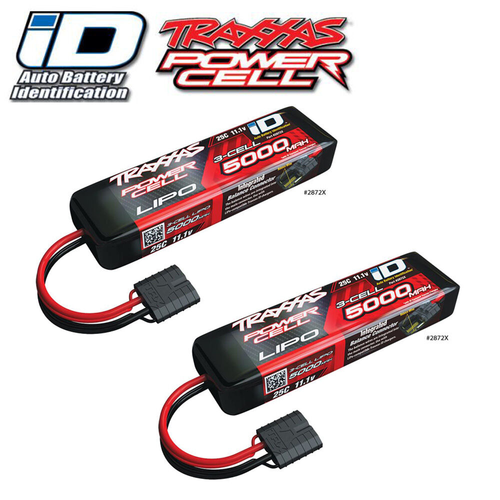 traxxas id power cell lipo 11 1v 3 cell 5000mah 25c. Black Bedroom Furniture Sets. Home Design Ideas