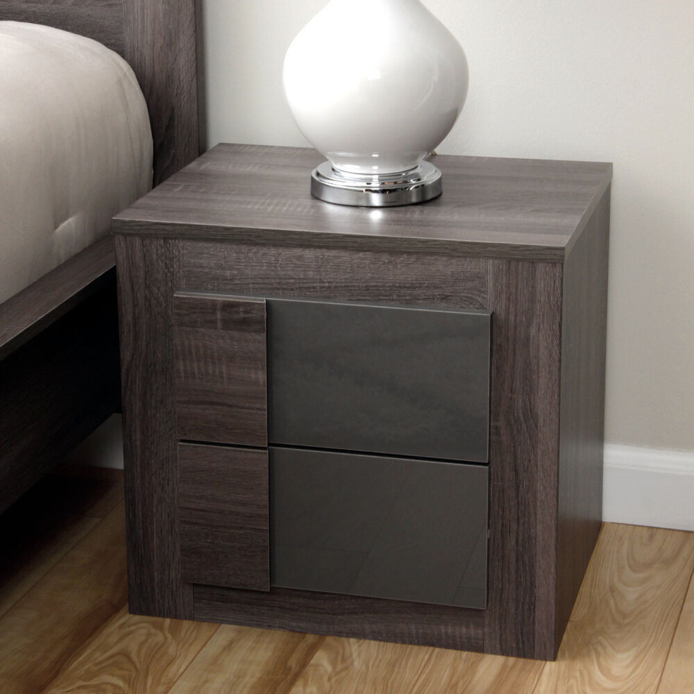 2-Drawer Night Stand Table Modern Bedroom Furnishing Bed