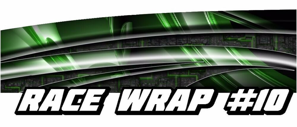 Race Car Graphics 10 Half Wrap Vinyl Decal Imca Late