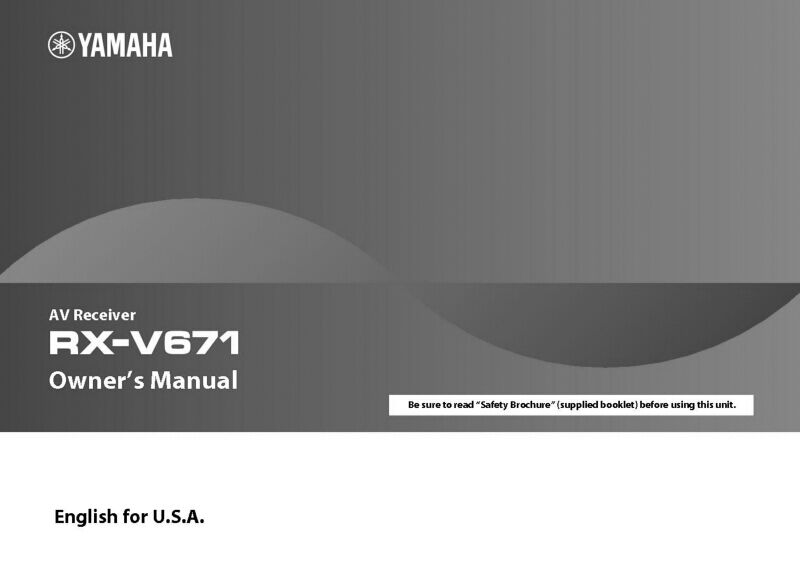 yamaha rx v671 receiver owners manual ebay