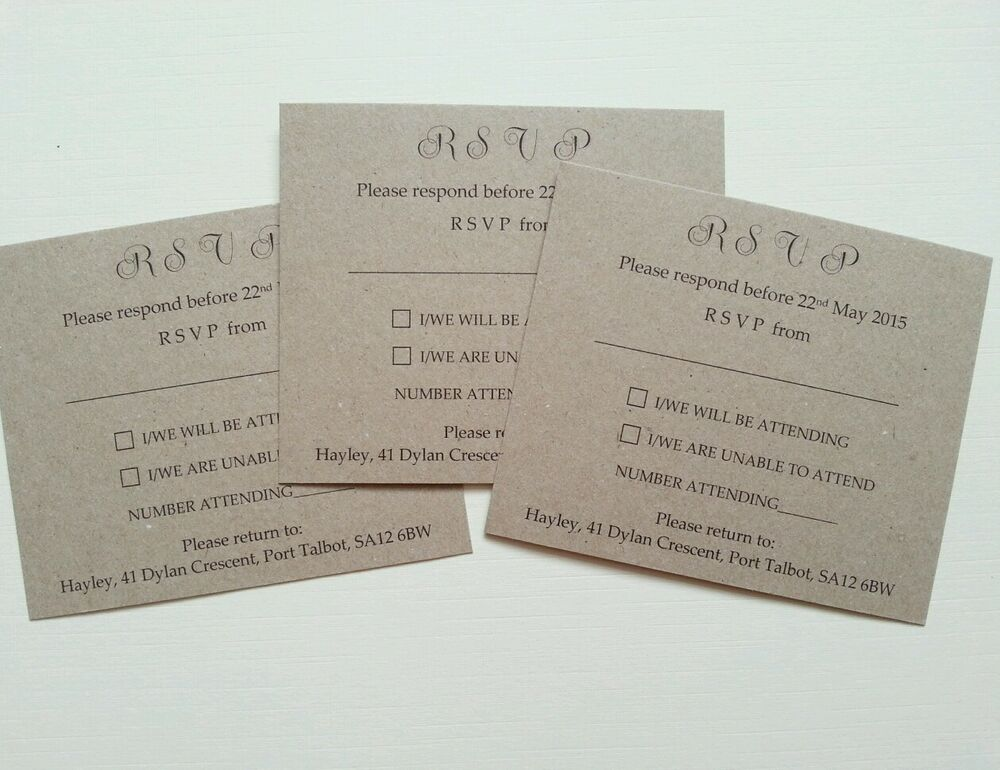 A Wedding Gift By Guy De Maupassant Analysis : Kraft wedding rsvp cards or gift poems 10 eBay