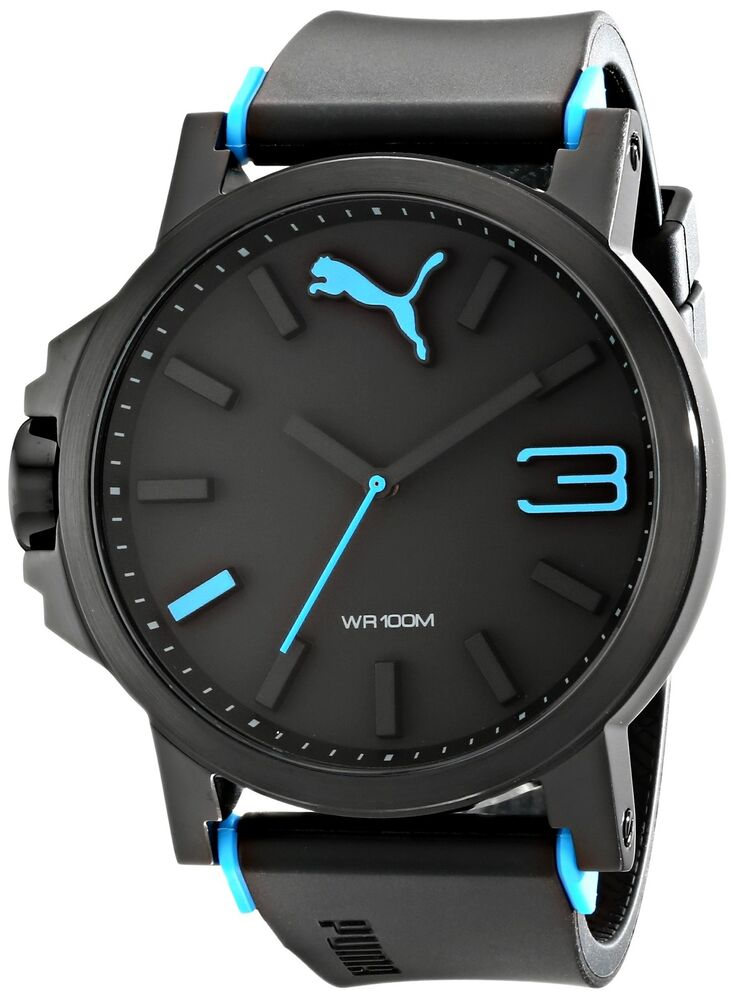 puma men 39 s pu102941001 ultrasize left handed black sport watch puma ebay