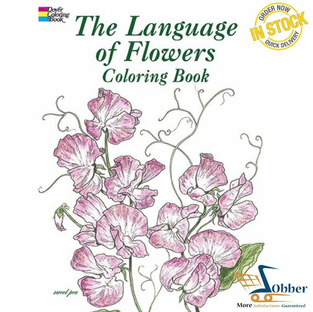 Gardening The Language Of Flowers Adult Coloring Pages