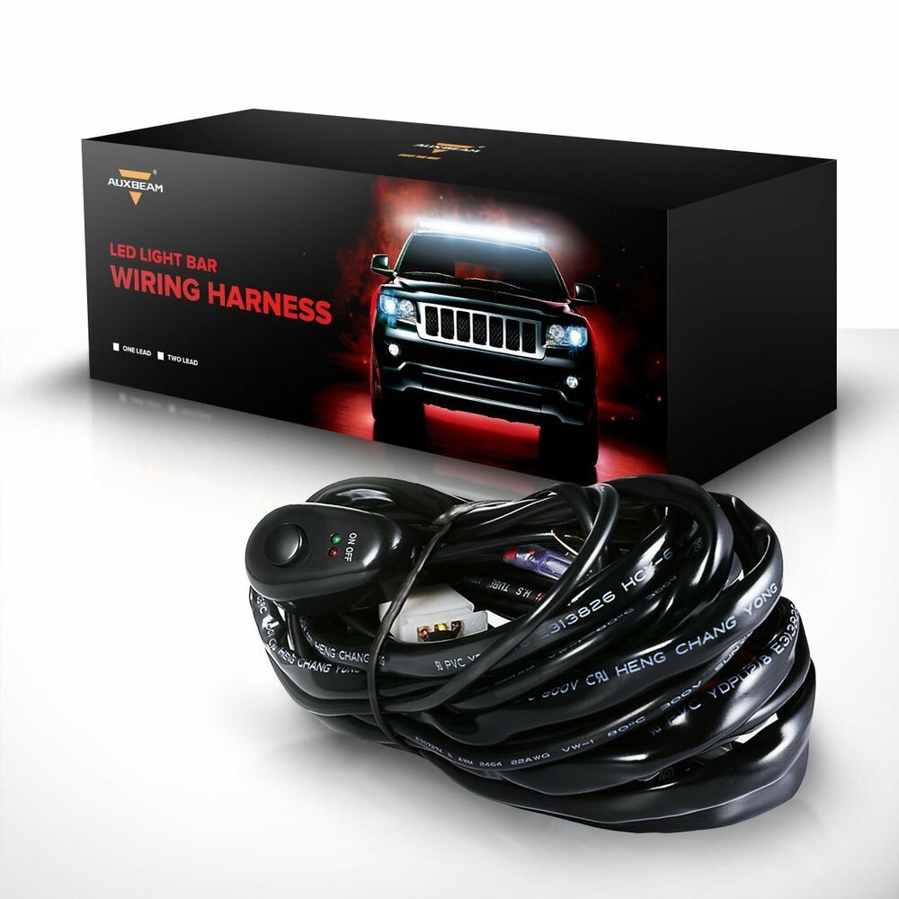 12v 40a hid  led light bar driving light wiring harness kit