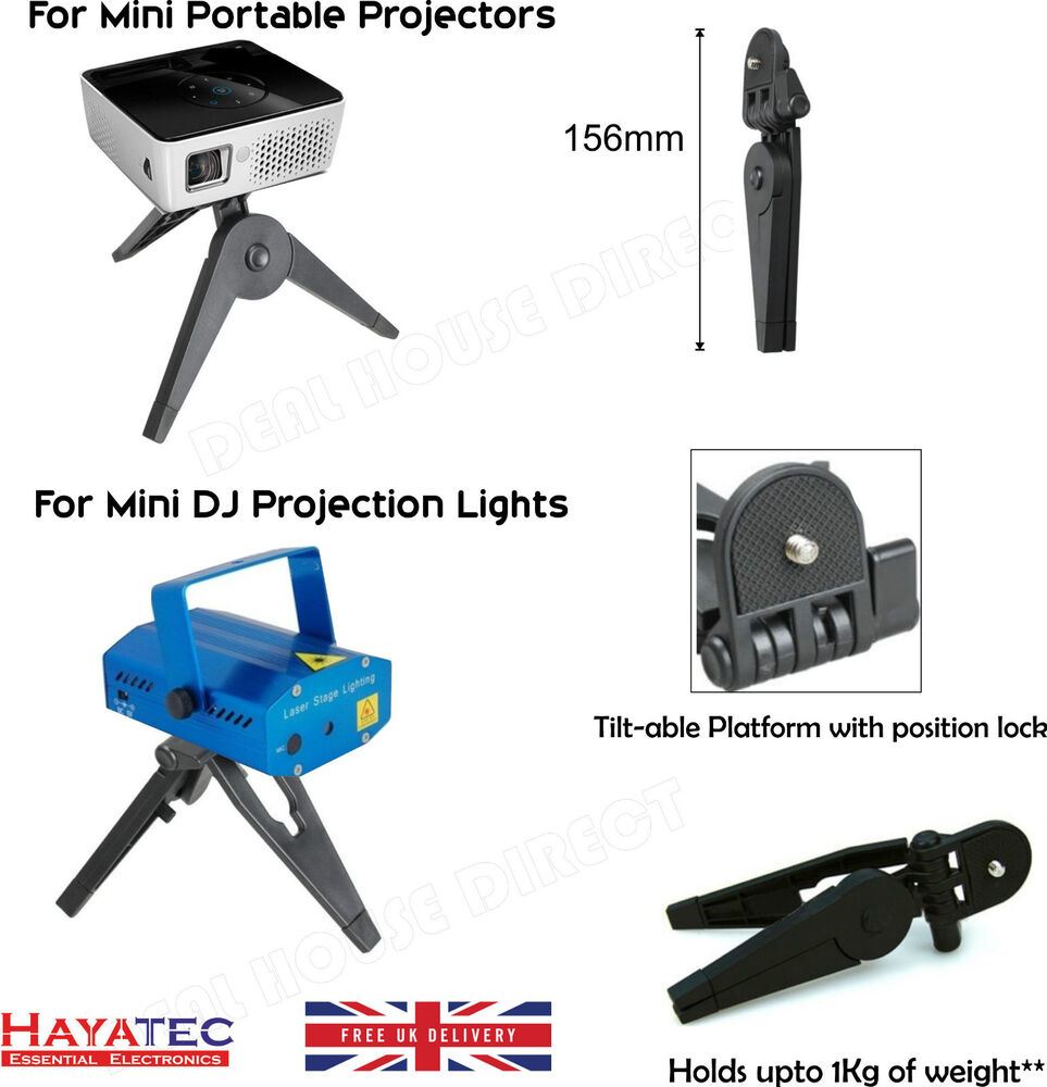 Tripod Small Portable Foldable Stand For Mini Projectors