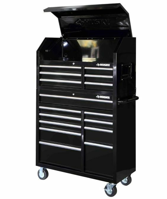 Black 16 Drawer Steel Tool Chest And Rolling Tool Cabinet