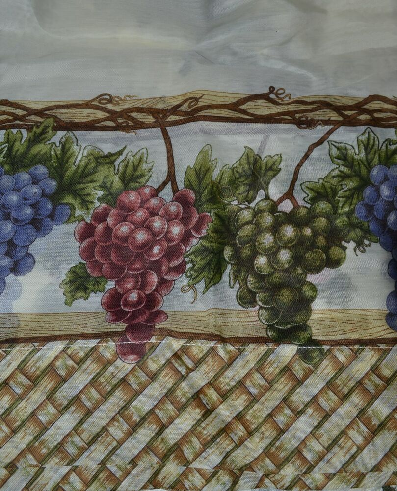 Window Curtain Set~Country Kitchen~Grape~Tiers~Swag~56W