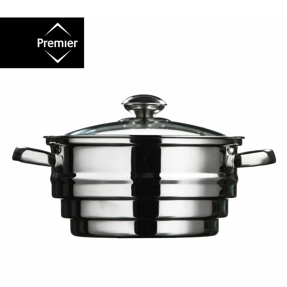 Cooking Pot Steamer ~ Stainless steel food steamer vegetable strainer steaming