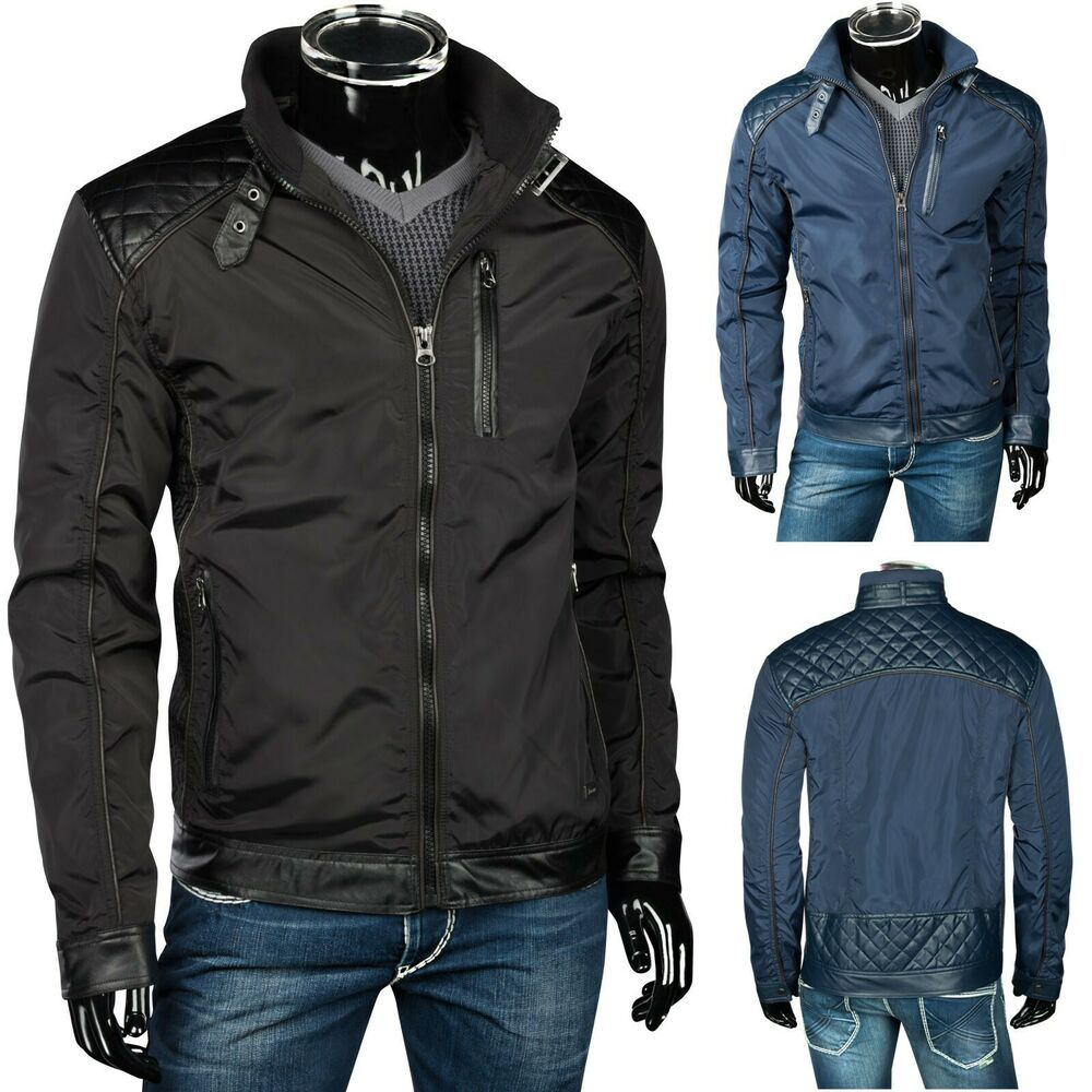 trisens herren jacke blouson bergangsjacke windbreaker sportjacke pu lederjacke ebay. Black Bedroom Furniture Sets. Home Design Ideas