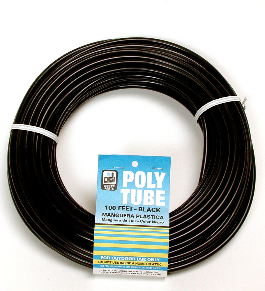Dial Mfg 4321 100 X 1 4 Quot Od Black Poly Water Supply Line