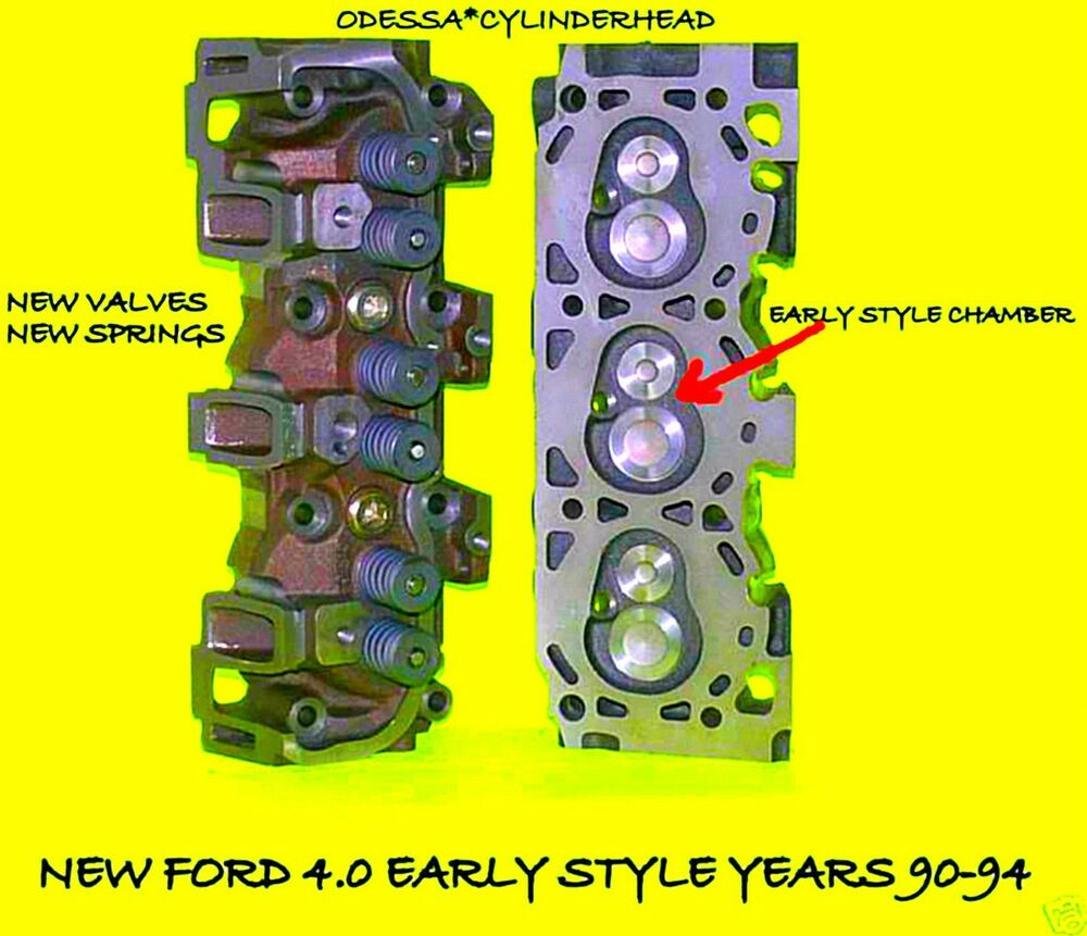 New 2 Ford Ranger Explorer 40 Ohv Early Cylinder Heads 90 95 5 Aftermarket Jeep 4 0 Head Complete Ebay