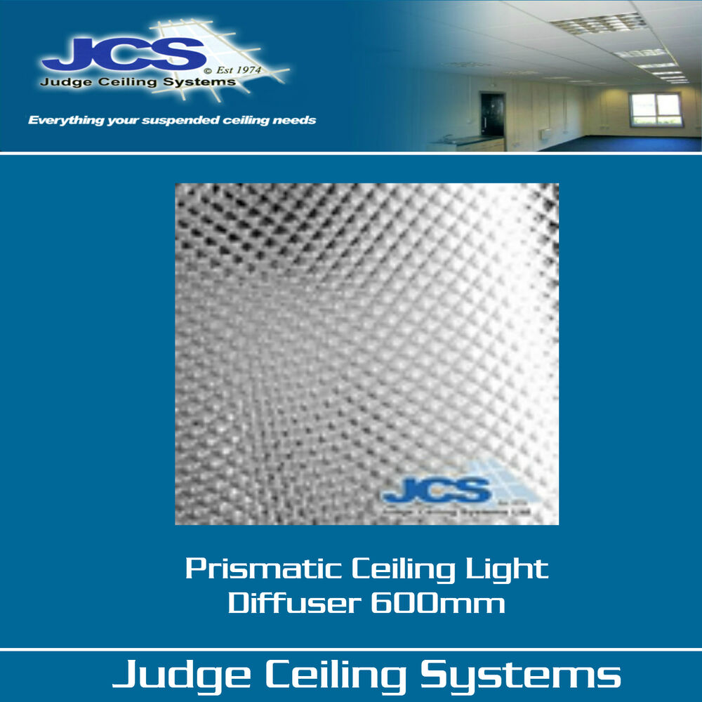 prismatic light diffusers clear 600 x 600mm suspended ceilings