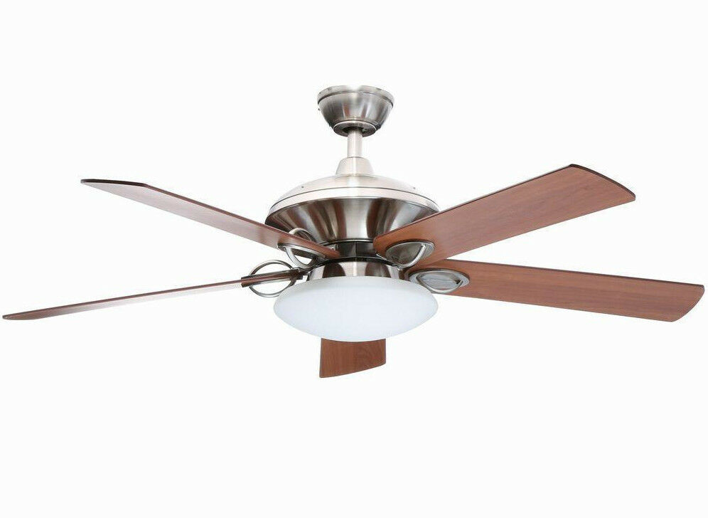 Hampton Bay Sauterne II 52 In. Brushed Nickel Ceiling Fan