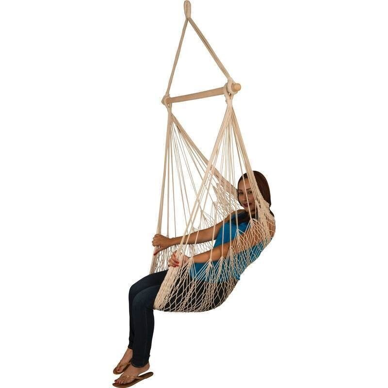 Hanging rope chair porch swing garden tree hammock outdoor patio yard 265lbs ebay - Choosing a hammock chair for your backyard ...