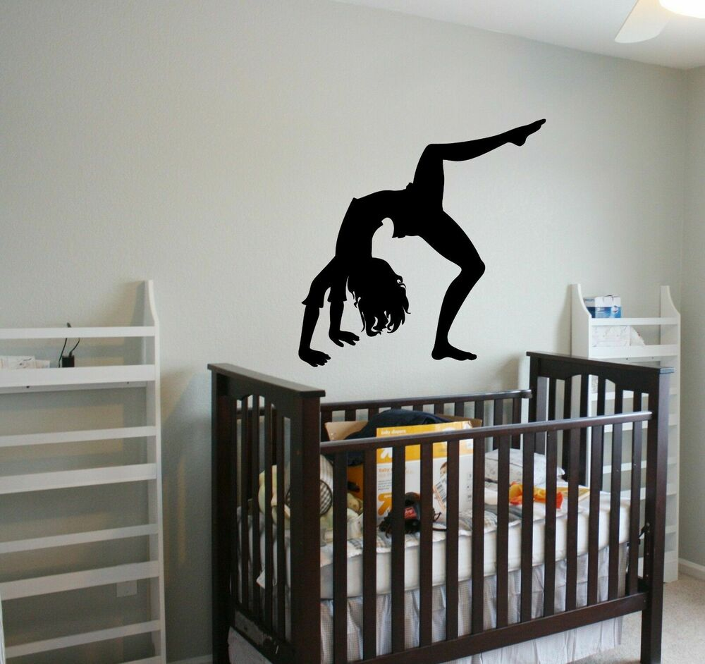Wall Decal Sticker Bedroom Gymnastic Girl Sport Activity