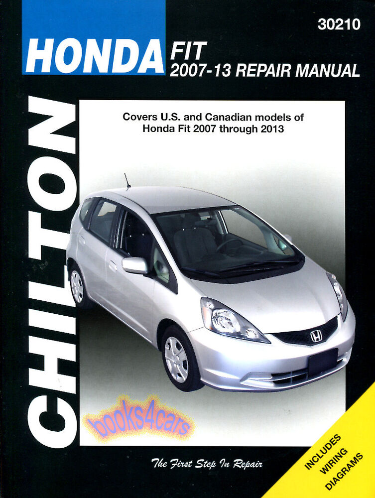 Shop manual honda fit service repair book chilton haynes for Honda car repair