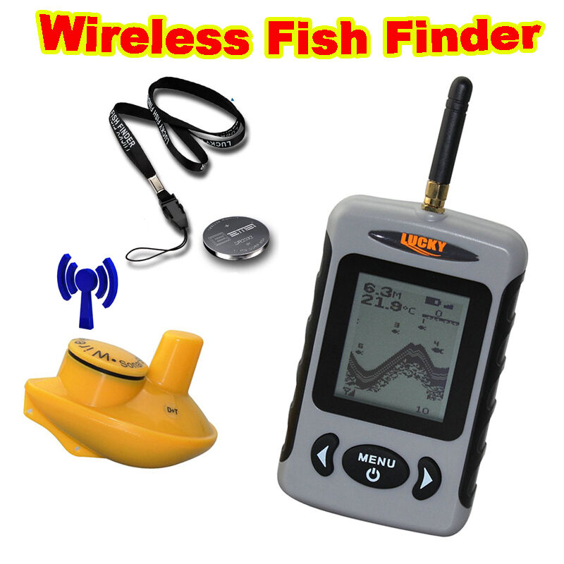 Lucky ffw718 100m portable wireless sonar fish finder for Lucky fish finder