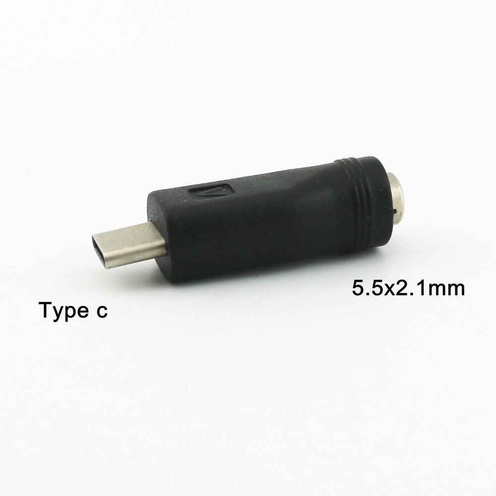1x Dc Power Converter Usb 3 1 Type C Male To 5 5 X 2 1mm