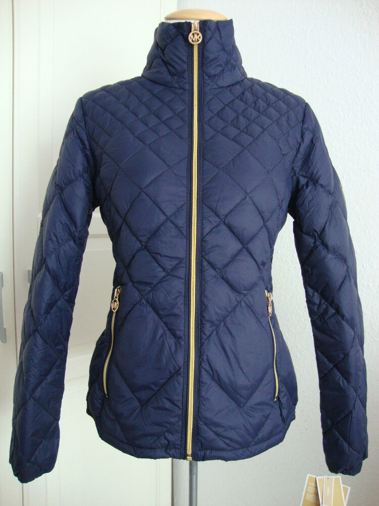 michael kors daunenjacke damen lightweight packable down blue gr m neu etikett ebay. Black Bedroom Furniture Sets. Home Design Ideas