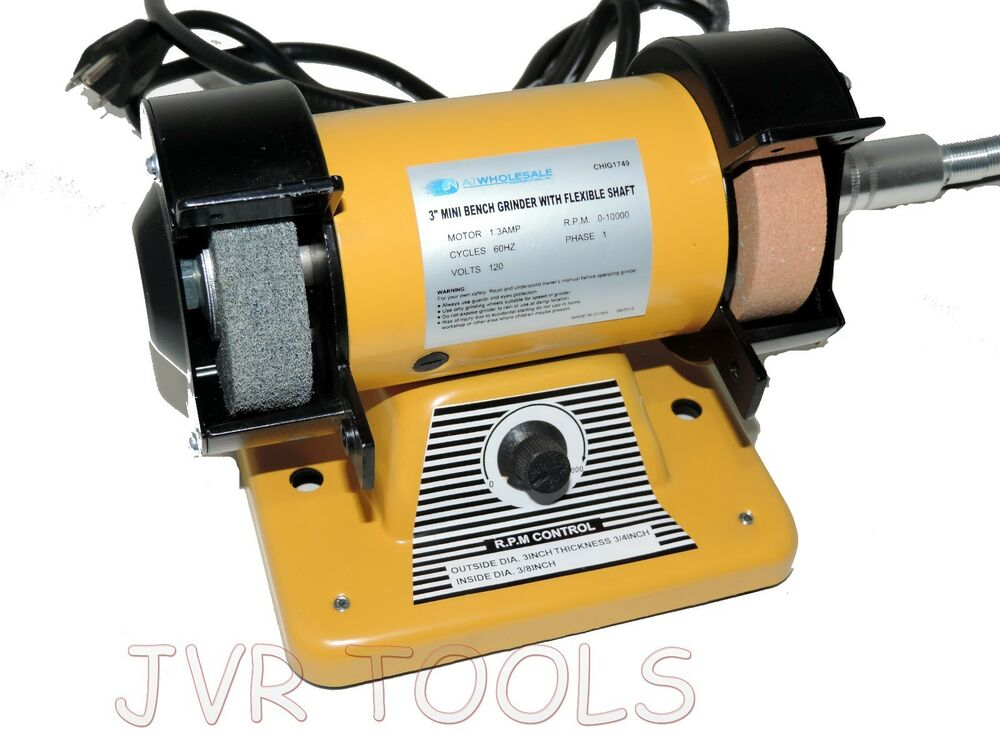 3 Quot Mini Bench Grinder W Flexible Shaft 10 000 Rotary