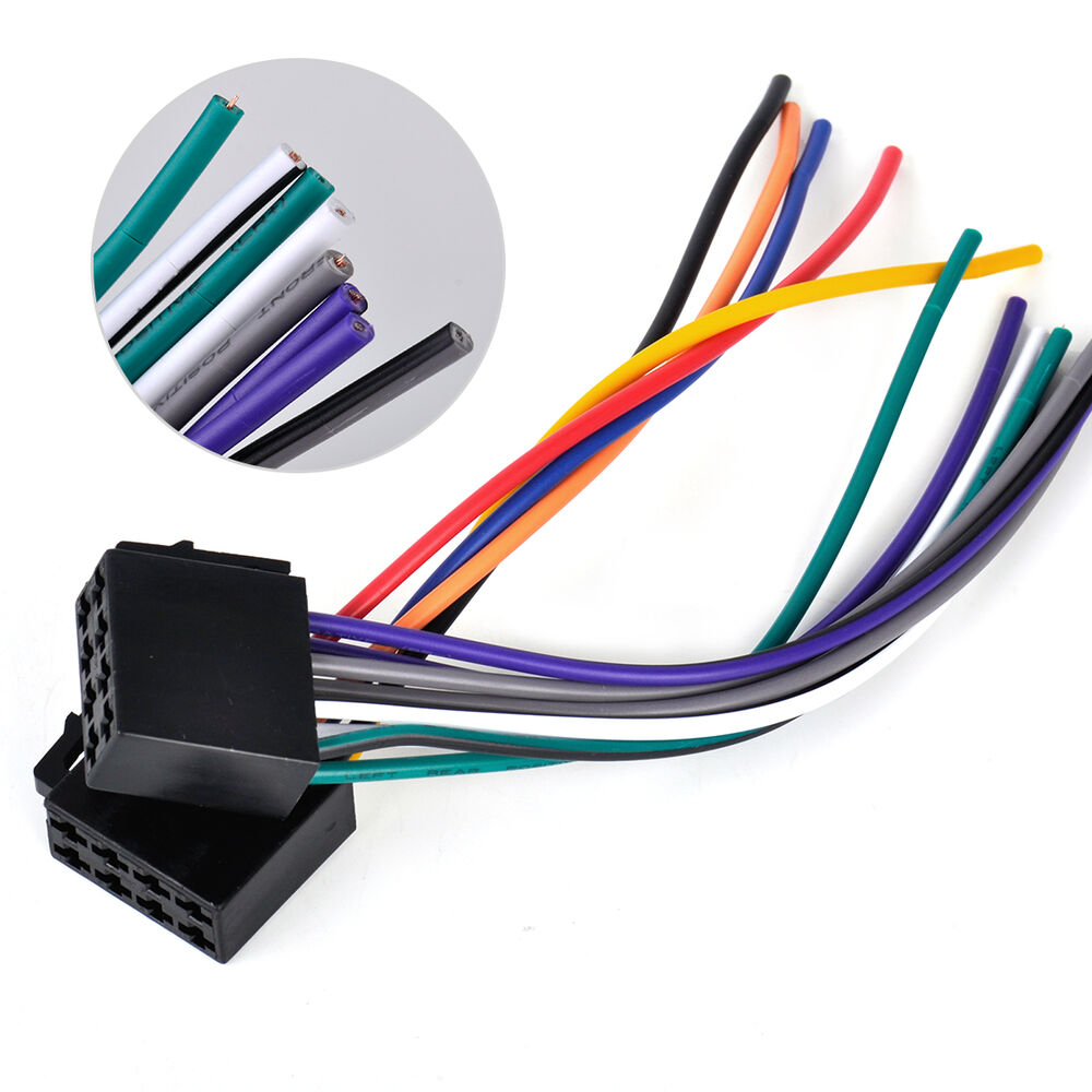 universal for car stereo system iso wire harness adapter connector cable ebay