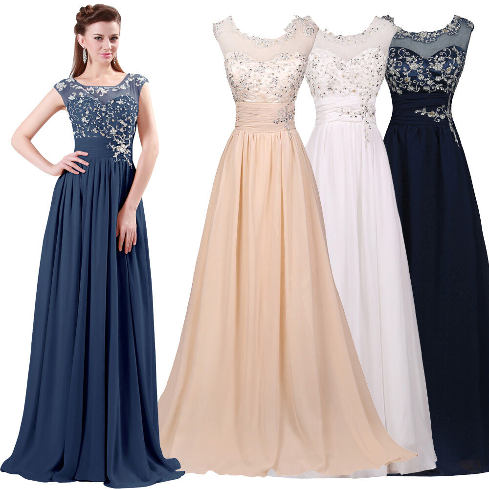 2016 applique women long formal bridesmaid prom wedding for Formal dress for women wedding