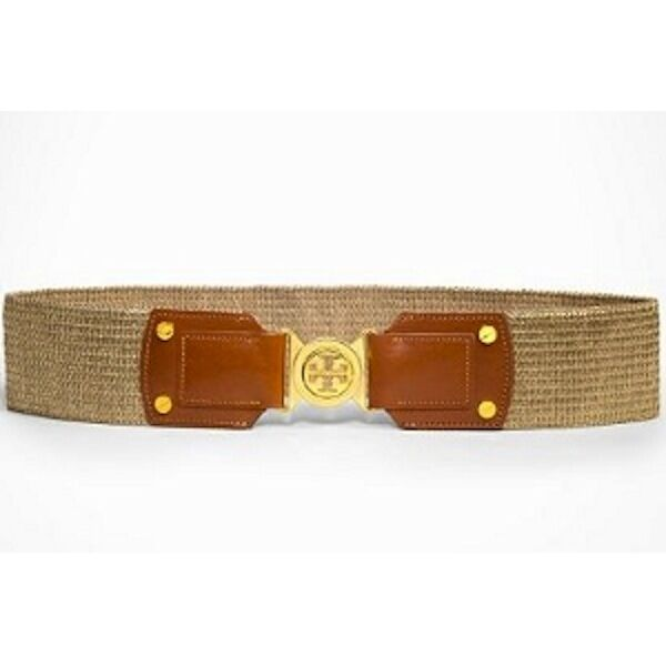 burch platinum gold metallic wide stretch belt gold