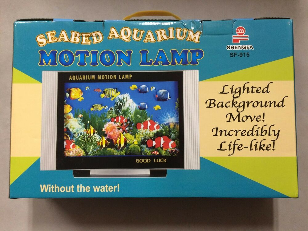 Aquarium Motion Moving Lamp Night Light Rotating Seabed