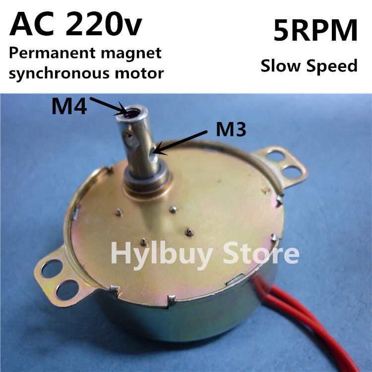 Ac 220v 5rpm Permanent Magnet Synchronous Gear Motor Screw