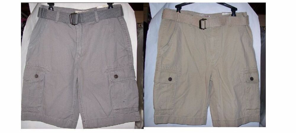 43d7243210 Details about MENS ARIZONA BELTED RIPSTOP CARGO SHORTS,MULTIPLE COLORS ANS  SIZES NEW WITH TAGS