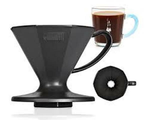 Italian Pour Over Coffee Maker : Bialetti 2 Cup Pour Over Coffee Maker Black Plastic Iconic 8-Sided Moka Design eBay