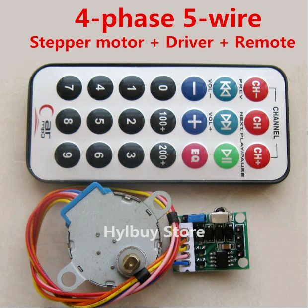 5v 4 Phase 5 Wire Stepper Motor Driver Board Remote