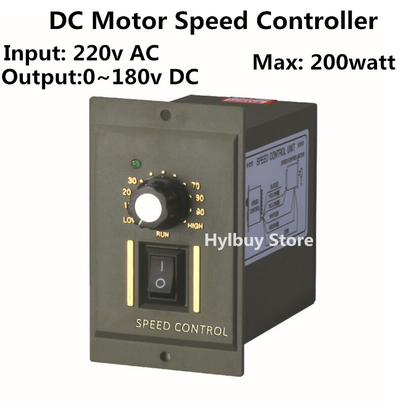 200w dc motor speed controller ac 220v output 0 180v Speed control for ac motor
